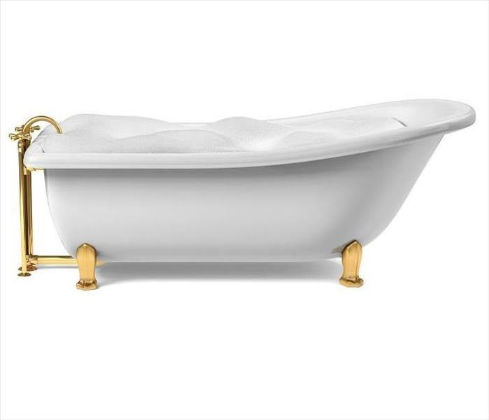 very full stand alone bathtub